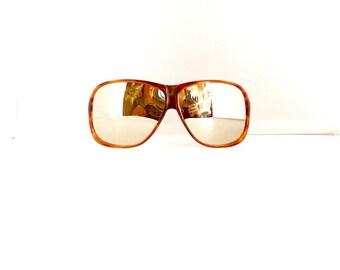 70s Aviator Sunglasses Frames // Unisex Vintage 1970's //Tortoiseshell Frames //France//#M223