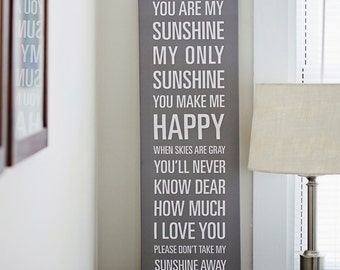 You Are My Sunshine Canvas - 12x36in