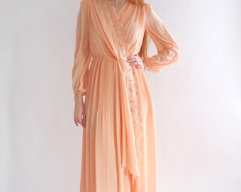 Pale peach pink muslin dress, Japan, xs - small