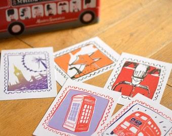 London icon postcard set