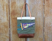 Washington DC Vintage Pennant Military Bucket Tote