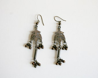 Boho Dangle Silver Earrings