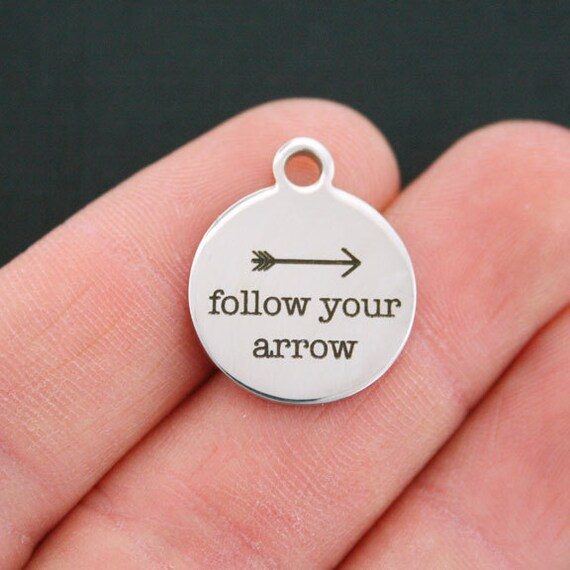Dreams Stainless Steel Charm Follow Your Arrow Exclusive