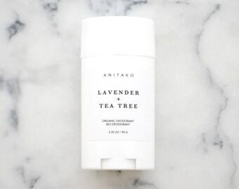 LAVENDER + TEATREE - Organic Deodorant, Natural Deodorant, Deodorizing Essential Oil Blend, Extra Strength, Aluminum Free