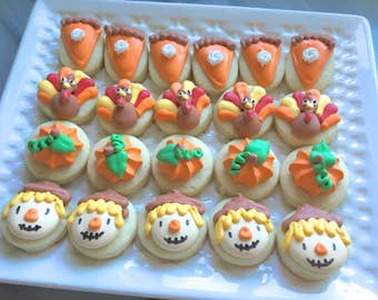 3 dozen Thanksgiving Themed cookie nibbles