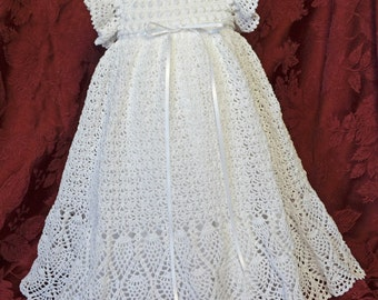 Christening/Blessing Dress and White Cotton Slip - 3 to 6 Months - READY TO SHIP - 13134-G