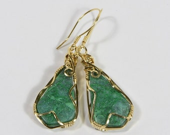 Chrysocolla Earrings Handmade Chrysocolla jewelry Chrysocolla Jewelry Wire Wrapped Jewelry
