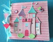 Princess scrapbook premade album gift for little girl  premade girl album Princess book paper bag album Princess album
