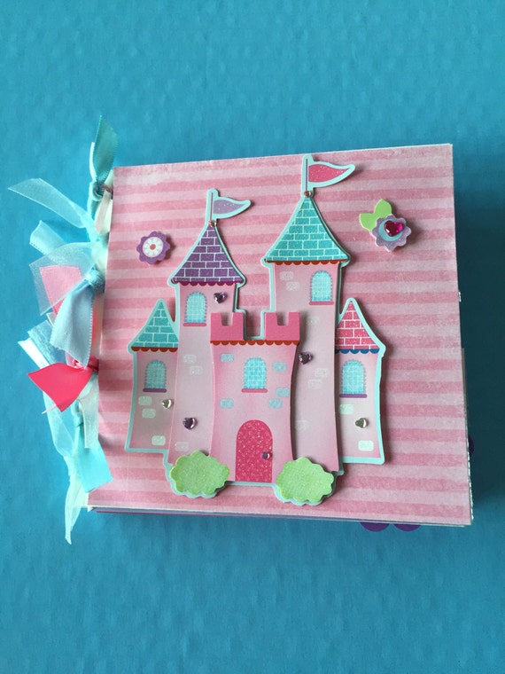 Paper Bag Princess Book Cover : Princess scrapbook premade album gift for little girl