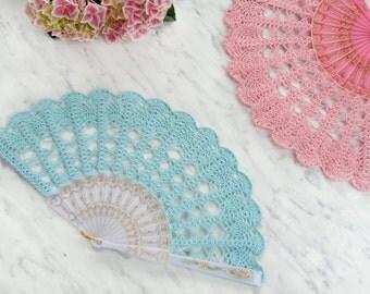 Limpet Shell Lace Hand Fan- Hand Held Fan- Lace Fan- Folding Hand Fan- Spanish Wedding Fan- Bridal Fan- Wedding Prop- Mother Of The Bride