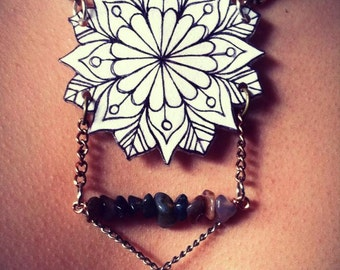 Snowflake Series: Starflower Mandala Necklace