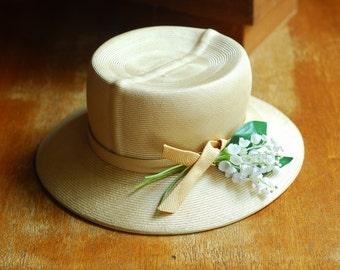 vintage Adolfo straw summer hat
