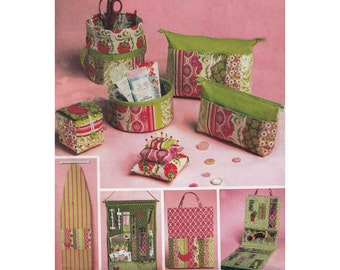 Uncut Home Accessories Sewing Pattern McCalls 6374 Circa 2011 Ironing Board Cover Organizers Zippered Bag in Two Sizes and Pin Cushions
