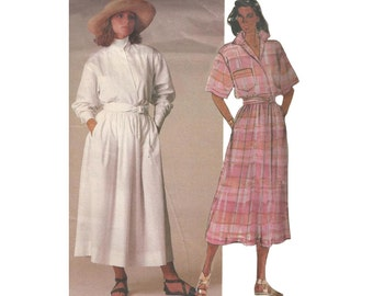 SALE! 1980s Ralph Lauren Gathered Skirt & Top Vogue 1548 Bust 32.5 High Neck Convertible Collar Uncut Vintage Designer Sewing Pattern