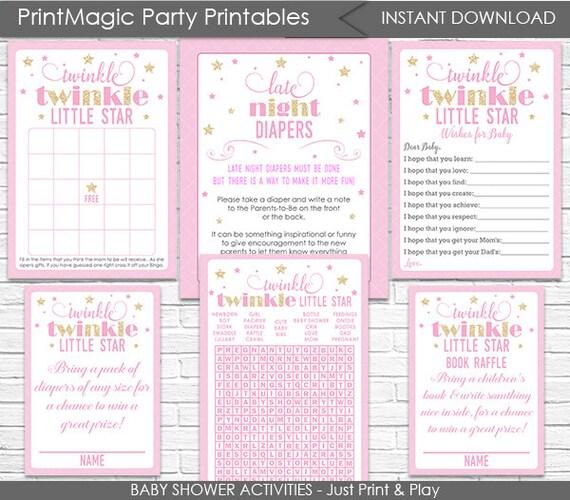 Twinkle Twinkle Little Star Baby Shower Games Package