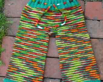 Hand Knit Pants, Longies, Wool, Licorice Twist, Norway for Boys, Dear Husband, Large.