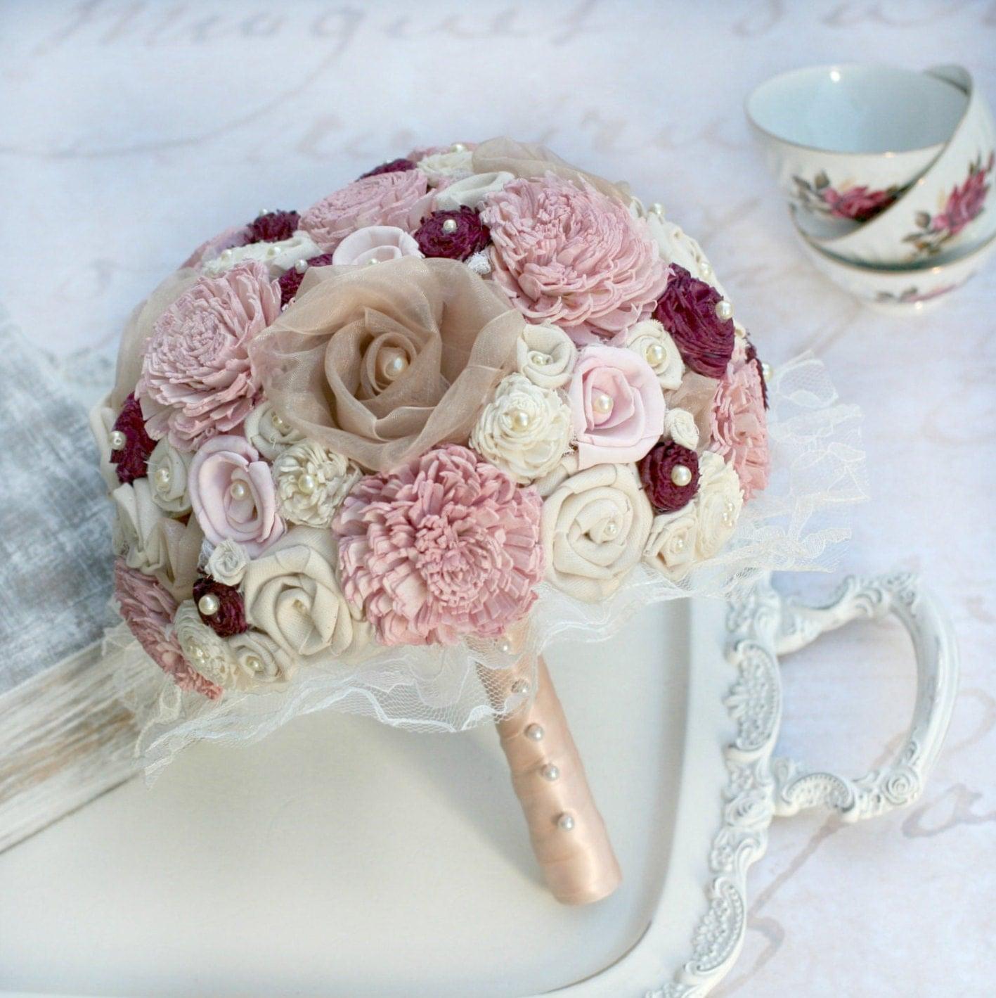 rose gold wedding bouquet rose gold bridal bouquet pink. Black Bedroom Furniture Sets. Home Design Ideas