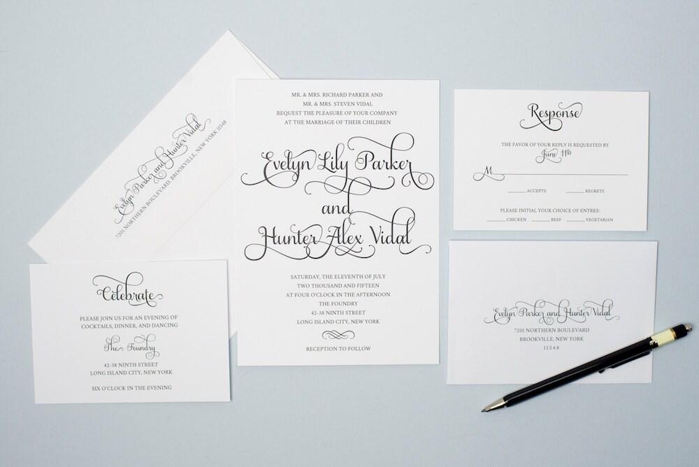 Printable Wedding Invitation Set Do It Yourself