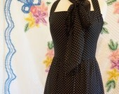 1950s Vintage Polkadot Party Dress/Pin-up/ Rockabilly Dress/Evening  Gown/Prom/Bridal/ Formal Dress