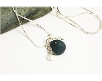 Leland Blue Stone Necklace / Leland Blue Stone Jewelry / Sterling Silver