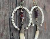 Boho Tribal COYOTE Earrings •  Boho Style• tribal ethnic •