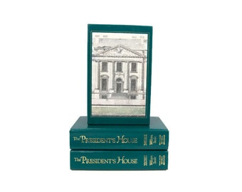 The Presidents House First Edition Two Volume Set White House Illustrated Washington History Book Hard Cover Books Collector Series