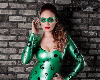 Riddler Inspired Latex Dress and Eye Mask