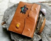 A4 Leather Diary Cover Healing Diary Art Journal Turtle Totem Notebook Turtle Dreaming