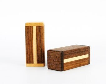 SALE : Wooden Salt and Pepper Shakers (Set)