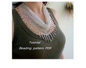 Necklace - Kerchief. Beading Tutorial. Beading pattern PDF. Instant download.