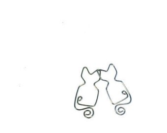 Cat Bookmark Paperclip Organizer
