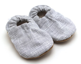 SALE - gray baby shoes gray toddler shoes gray booties gray crib shoes gray baby girl shoes gray baby boy shoes gray soft sole shoes vegan