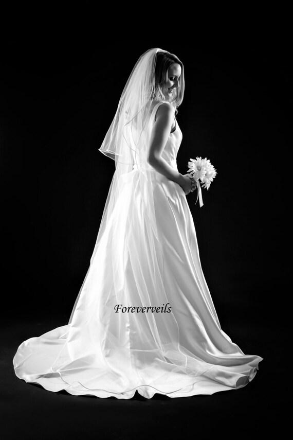 Chapel Wedding Veil 2 Tier Medium Fullness