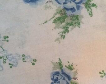 Blue Rose Vintage Double Flat Bed Sheet