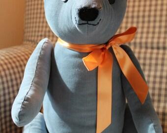 Blue Corduroy Bradley Bear