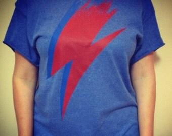 David Bowie off the shoulder T-shirt