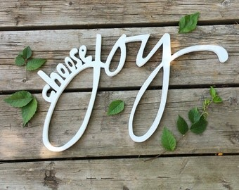 Choose Joy / Wood wall art / Choose Joy sign / painted wood sign