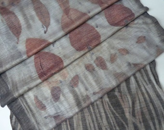 Naturally Printed Wool Jersey Scarf