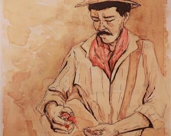 Painting with Coffee - Original Piece