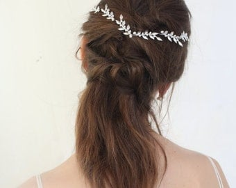 Silver leaf headpieces , Bridal headpieces , Wedding tiaras , Wedding headpieces , Hair accessories