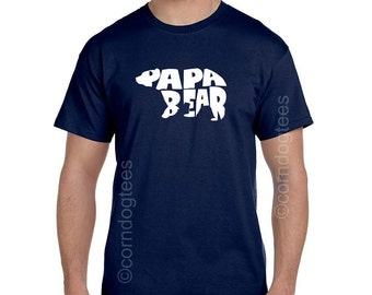 Gift ideas for Him, Papa Bear Shirt, Husband Gift Ideas, Gift from Grandkids, Gift ideas for Dad, Son to Father Gift, Christmas Gifts