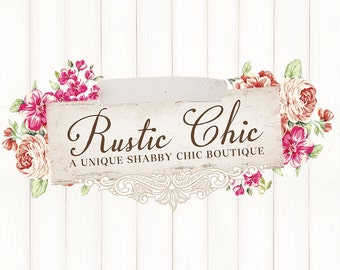 Shabby Chic Premade Boutique Logo Scrapbooking