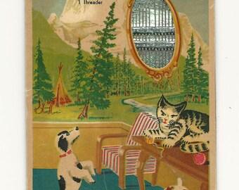 vintage sewing needle book