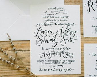 Digital Calligraphy Invitation - Custom + Handwritten for DIY Modern Weddings + Parties