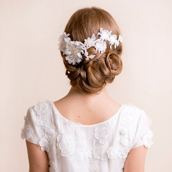 Floral Lace Headpiece For Wedding