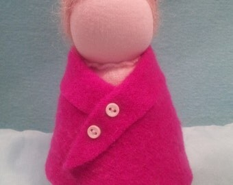 Wool Felt Waldorf table puppet doll