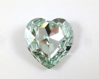 4827 LIGHT AZORE 28mm Swarovski Crystal Heart Fancy Stone No Hole