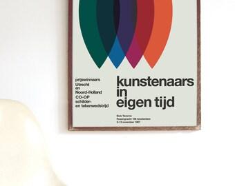Otto Treumann kunstenaars Mid Century Modern Poster Print Herman Miller Vitra Alexander Girard Danish Scandinavian → FREE SHIPPING ANYWHERE