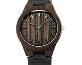 Wood Engraved Watch Personalized Watch; Gift for Him, Anniversary, Weddings, Groomsmen, Best Man, Christmas for Him, Wooden Watch W#77