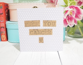 F**k You Cancer Card | 50% Proceeds Donated To Cancer Research Uk